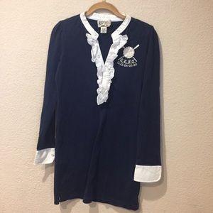 Ralph Lauren rugby classic shirt mini dress